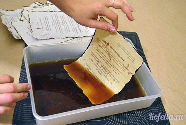 """Как сделать бумагу красивой с помощью кофе - Гостиница """"Меркит"""""""