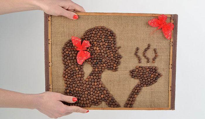 Поделки из кофейных зерен своими руками