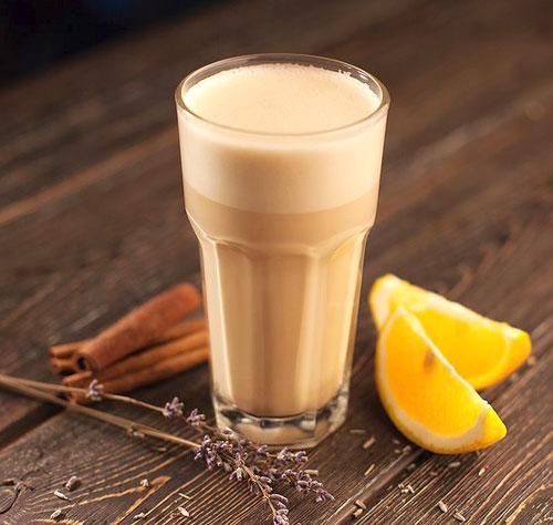 Апельсиновый и цитрусовый раф кофе