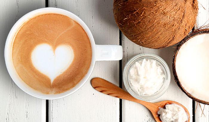 Латте на кокосовом молоке