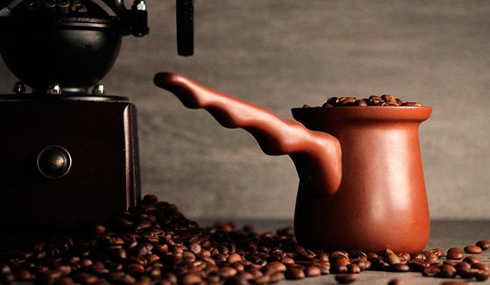 как сварить зерновой кофе в турке