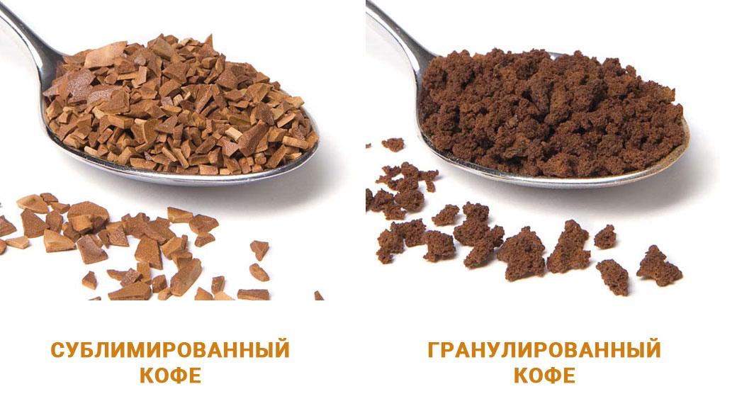 Олтичие сублимированный кофе от гранулированного