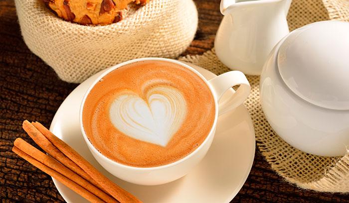 Сердце на кофе
