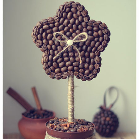 Цветок из кофе