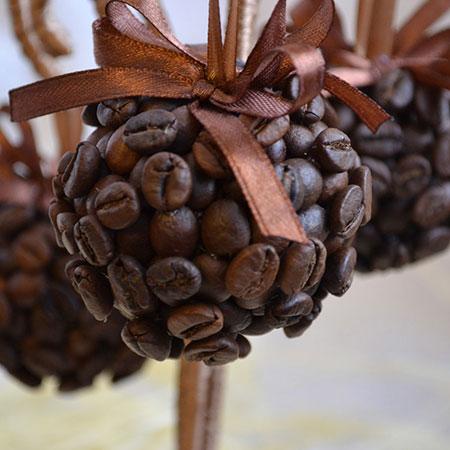Круглые шары для декора из кофе